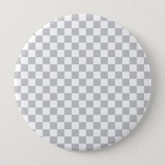 Light Grey Checkerboard 4 Inch Round Button