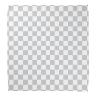 Light Grey Checkerboard Bandana