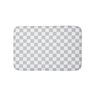 Light Grey Checkerboard Bathroom Mat