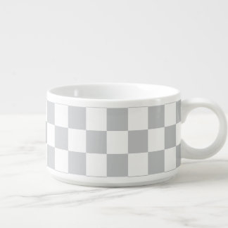 Light Grey Checkerboard Bowl