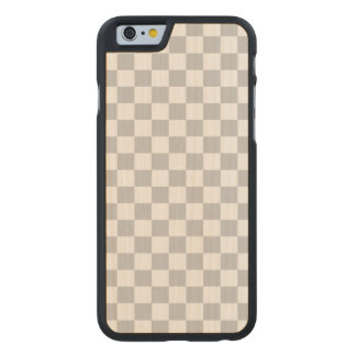 Light Grey Checkerboard Carved Maple iPhone 6 Case