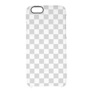 Light Grey Checkerboard Clear iPhone 6/6S Case