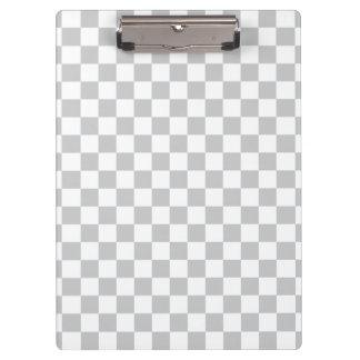 Light Grey Checkerboard Clipboards