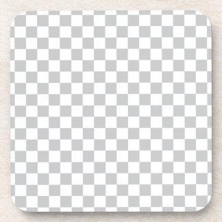 Light Grey Checkerboard Coaster
