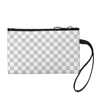 Light Grey Checkerboard Coin Purse