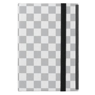 Light Grey Checkerboard Cover For iPad Mini