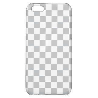 Light Grey Checkerboard Cover For iPhone 5C