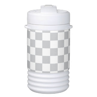 Light Grey Checkerboard Drinks Cooler