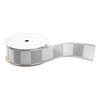Light Grey Checkerboard Grosgrain Ribbon