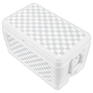 Light Grey Checkerboard Ice Chest