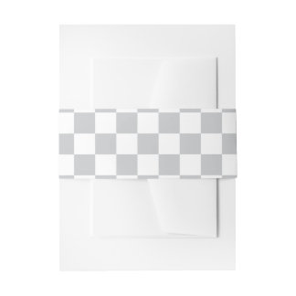Light Grey Checkerboard Invitation Belly Band