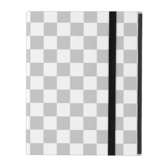 Light Grey Checkerboard iPad Cover