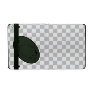 Light Grey Checkerboard iPad Folio Case