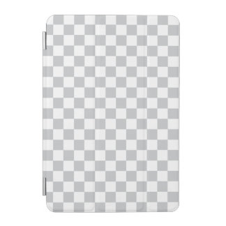 Light Grey Checkerboard iPad Mini Cover