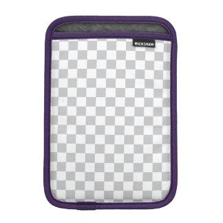 Light Grey Checkerboard iPad Mini Sleeve
