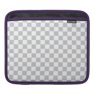 Light Grey Checkerboard iPad Sleeve