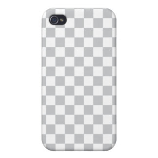 Light Grey Checkerboard iPhone 4/4S Covers