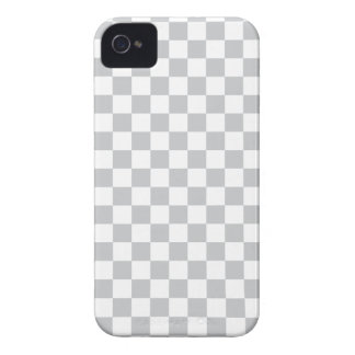 Light Grey Checkerboard iPhone 4 Case