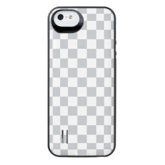 Light Grey Checkerboard iPhone SE/5/5s Battery Case