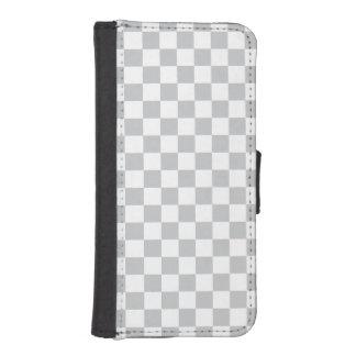 Light Grey Checkerboard iPhone SE/5/5s Wallet Case
