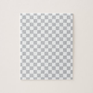 Light Grey Checkerboard Jigsaw Puzzle