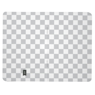 Light Grey Checkerboard Journal