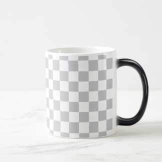 Light Grey Checkerboard Magic Mug
