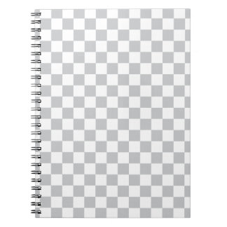 Light Grey Checkerboard Notebook
