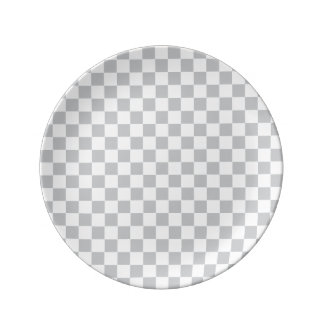 Light Grey Checkerboard Plate