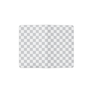 Light Grey Checkerboard Pocket Moleskine Notebook