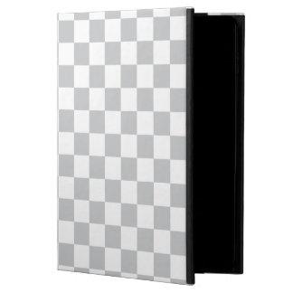 Light Grey Checkerboard Powis iPad Air 2 Case
