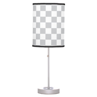 Light Grey Checkerboard Table Lamp