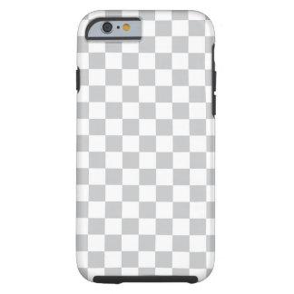 Light Grey Checkerboard Tough iPhone 6 Case