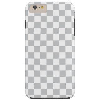 Light Grey Checkerboard Tough iPhone 6 Plus Case