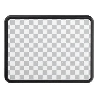 Light Grey Checkerboard Trailer Hitch Cover