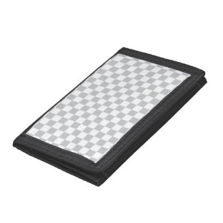 Light Grey Checkerboard Trifold Wallet