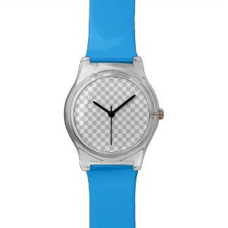 Light Grey Checkerboard Wristwatch