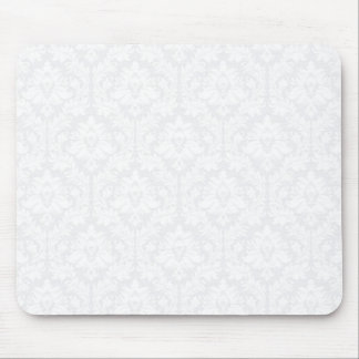 Light Grey Damask pattern Mouse Pad