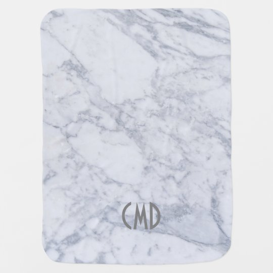 Light Grey Marble Texture Baby Blanket