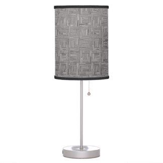Light Grey Parquet Wood Flooring Table Lamp