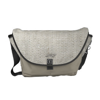Light Grey Rickshaw Messenger Canvas Bag Commuter Bags