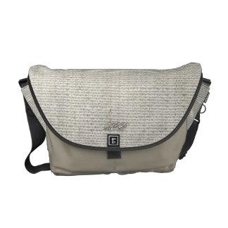 Light Grey Rickshaw Messenger Canvas Bag Courier Bag