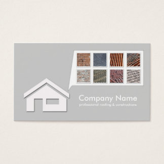 Light Grey Roofing & Constructions Card