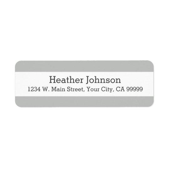Light Grey Stripes Return Address Labels