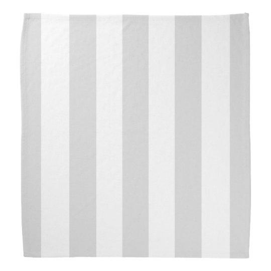 Light Grey White XL Stripes Pattern Bandana