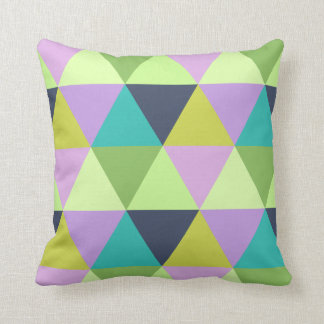 Light harlequin pastel quilt pattern throw pillow