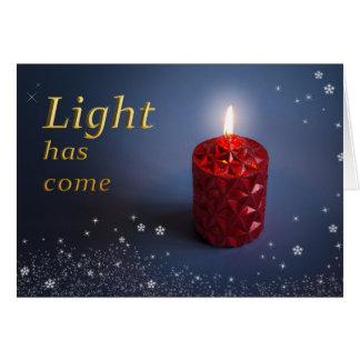 Light has come Christian Christmas card