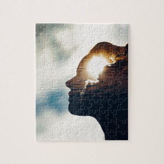 Light head jigsaw puzzle