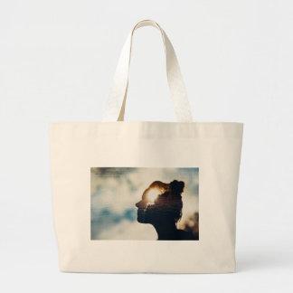 Light head large tote bag