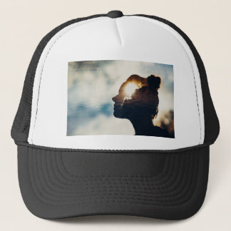 Light head trucker hat